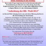 Anfechtung der BR-Wahl 2013